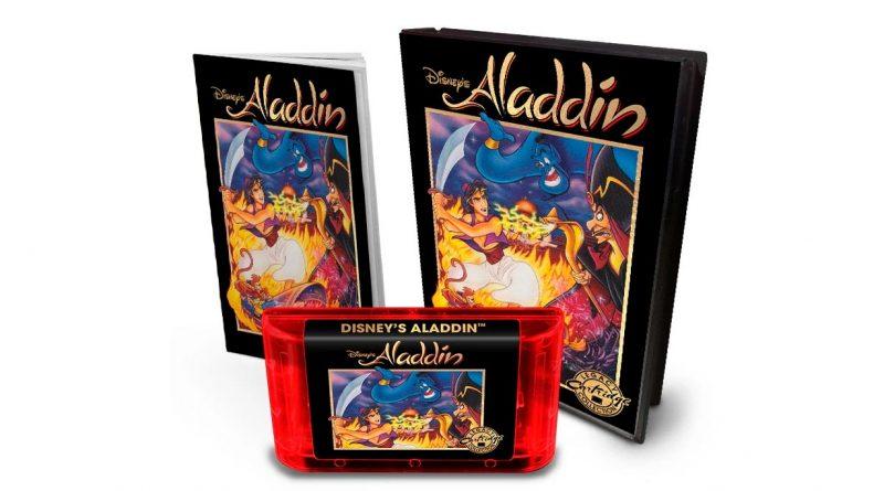 Cartutx i caixa de l'edició limitada de Aladdin per a Super Nintendo