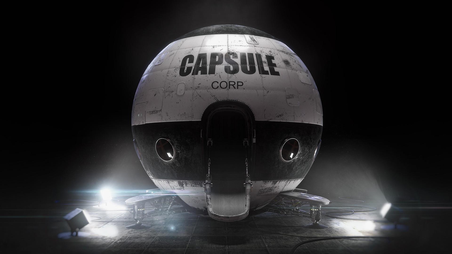 "La réplica a ""tamaño real"" de la nave espacial Capsule Corp de ""Dragon Ball"""